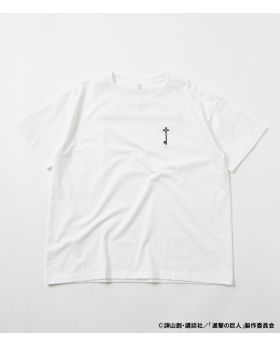 Attack On Titan Shingeki No Kyojin x R4G Collaboration Key T-Shirt White