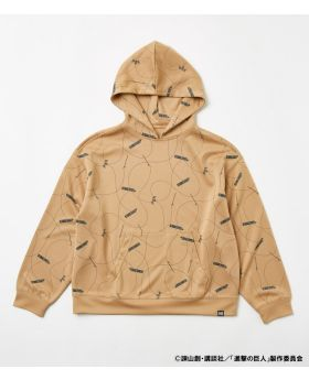 Attack On Titan Shingeki No Kyojin x R4G Collaboration 3D Maneuver Gear Hoodie Beige