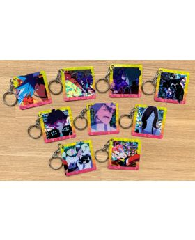 PROMARE Holographic Square Card Keychain Collection SET
