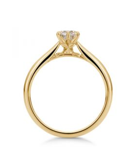 Kingdom Hearts U-Treasure Engagement Ring Paopu Fruit Sterling Silver with Gold Coating