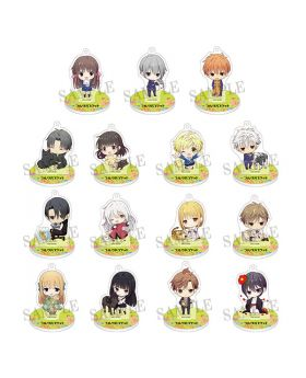 Fruits Basket Dash Store Collaboration Goods Chibi Acrylic Keychain Stand SET