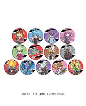 Yu-Gi-Oh! Sevens GraffArt Can Badge Chibi Ver. SET