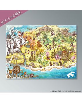 Tomoya Asano Collection Square Enix Cafe Goods Map Picnic Mat