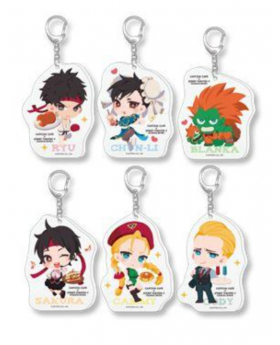 CAPCOM Street Fighter Cafe Goods Acrylic Keychain BLIND PACKS