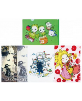 Final Fantasy Amano Artist Collab Clear File Set Cute Ver. Vol. 2