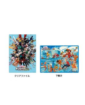 Boku No Hero Academia DRAWING SMASH Exhibition Clear File and Placemat Set Blue Ver.