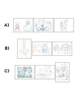BNA: Brand New Animal Graffart Replica Genga Sets