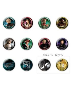 Final Fantasy VII Remake Tokyo Skytree Goods Can Badges SET