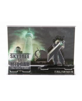 Final Fantasy VII Remake Tokyo Skytree Goods Large Acrylic Stand