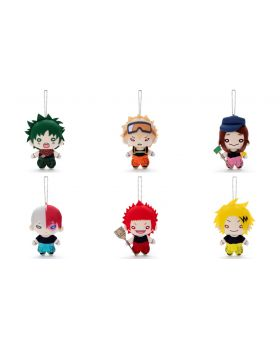 Boku No Hero Academia Nitotan Plush Keychains Cleaning Outfit Versions
