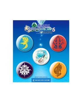 Final Fantasy Crystal Chronicles Remastered Square Enix Cafe Goods Can Badge SET