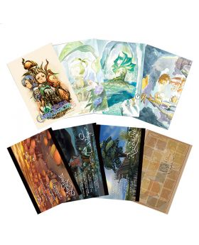 Final Fantasy Crystal Chronicles Remastered Square Enix Cafe Goods Postcard Set