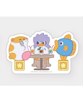 Kirby Cafe Tokyo Cut Stickers Rick, Kine, and Coo
