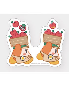 Kirby Cafe Tokyo Cut Stickers Waddle Dee and Apples