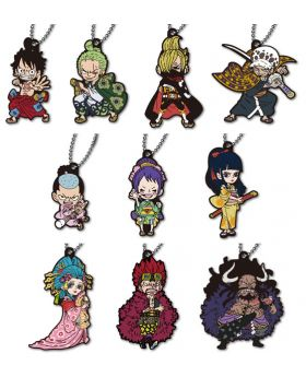 One Piece Hikidashi Rubber Strap Wano Country Ver. SET