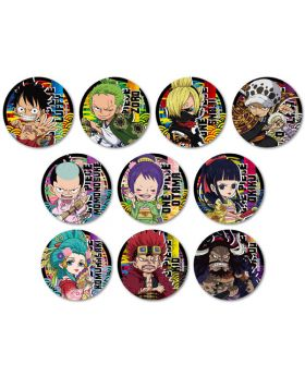 One Piece Hikidashi Can Badge Wano Country Ver. SET