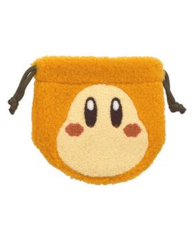 Kirby Cafe Mokomoko Fluffy Drawstring Pouch Waddle Dee