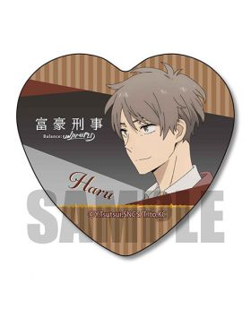 Fugou Keiji Balance UNLIMITED Gyugyutto Series Heart Can Badge Kato Haru