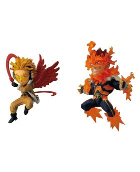 Boku No Hero Academia Shonen Jump Magazine Exclusive WCF Figurine Set Hawks and Endeavor