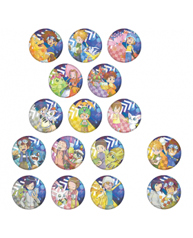 Digimon Adventure Limited Base Goods Holographic Can Badge BLIND PACKS