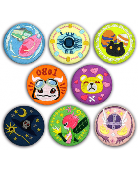 Digimon Adventure Limited Base Goods Embroidery Badge BLIND PACKS