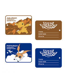 Digimon Adventure Limited Base Goods Rubber Luggage Tag