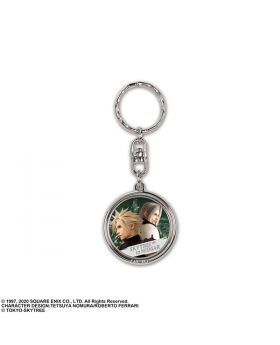 Final Fantasy VII Remake Tokyo Skytree Goods Metal Keychain Cloud and Sephiroth Version