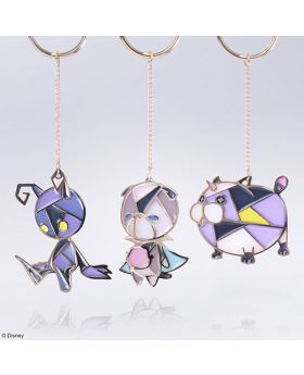 Kingdom Hearts Square Enix Exclusive Stained Glass Keychain Set