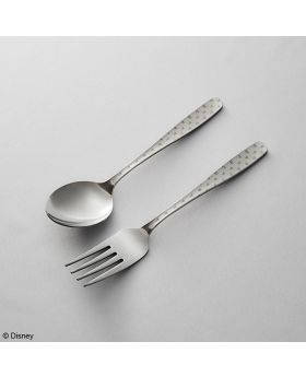 Kingdom Hearts Square Enix Limited Edition Fork and Spoon Set Monogram Steel Color