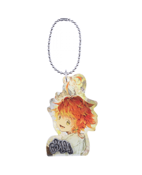 The Promised Neverland Exhibition Goods Metal Number Acrylic Keychain Emma