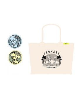 PROMARE Aniplex+ F*Kaori Vacation Large Tote Bag with Can Badge Set