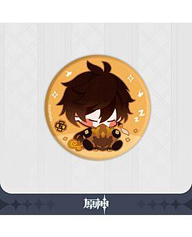Genshin Impact miHoYo Official Goods Zhongli Rex Lapis Can Badge