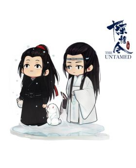 Mo Dao Zu Shi The Untamed Chen Qingling Official Acrylic Stands Wei Wuxian and Lan Wangji with Rabbit