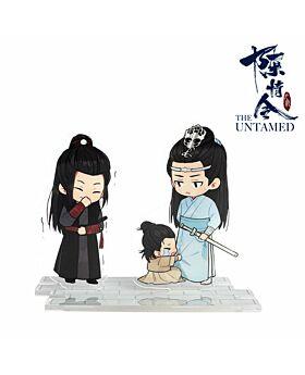 Mo Dao Zu Shi The Untamed Chen Qingling Official Acrylic Stands Wei Wuxian and Lan Wangji with Child