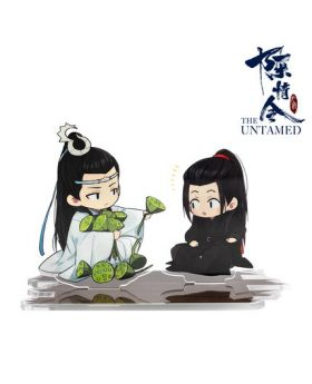 Mo Dao Zu Shi The Untamed Chen Qingling Official Acrylic Stands Wei Wuxian and Lan Wangji with Lotus