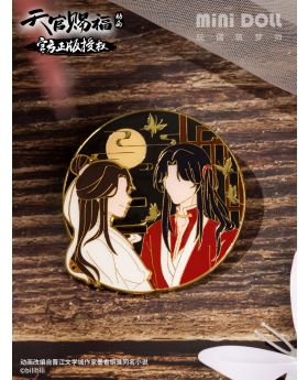 Heaven Official's Blessing Mini Doll Xie Lian and Hua Cheng Sliding Pin Badge