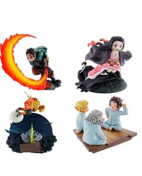 Kimetsu No Yaiba Megahouse Petitrama Series Scene's Figurine Box Vol. 1 SET