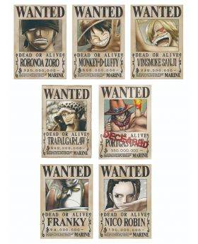 One Piece Mugiwara Store Official Wanted Posters Vol.1