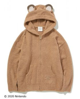 Animal Crossing x Gelato Pique Collab Hoodie Brown READY STOCK