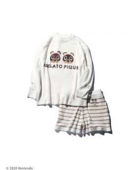 Animal Crossing x Gelato Pique Collab Sweater and Shorts Timmy and Tommy