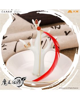 Mo Dao Zu Shi Aimon Exclusive Official Goods Wenning Earrings Bright Red Feather