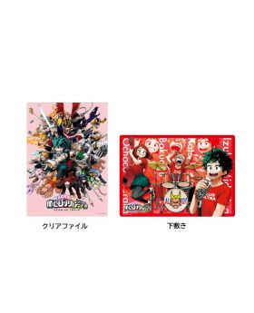Boku No Hero Academia DRAWING SMASH Exhibition Clear File and Placemat Set Red Ver.