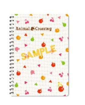 Animal Crossing Sanei Goods Ring Notebook Fruits Pattern