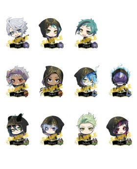Twisted Wonderland Animate Ceremonial Outfit Acrylic Keychain Vol. 2 SET