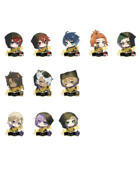 Twisted Wonderland Animate Ceremonial Outfit Acrylic Keychain Vol. 1 SET