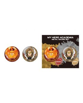 Boku No Hero Academia Metal Can Badge Set Endeavor and Hawks