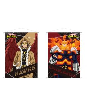 Boku No Hero Academia B2 Tapestry Endeavor and Hawks