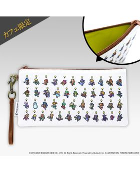 SAGA Square Enix Cafe Exclusive Clutch Pouch Character Ver.