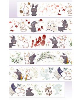 Mo Dao Zu Shi KAZE Official Washi Tape Bunny Design B