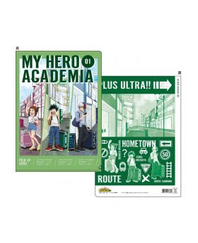 Boku No Hero Academia Showa Note Foil Illustration Boards Casual Clothes Clear File A